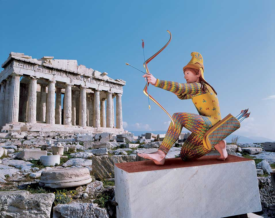 Was Greek Sculpture Painted Bright Colors