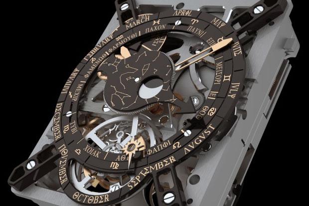El fabricante suizo de relojes de lujo hublot recrea el - Mecanismos de reloj de pared ...