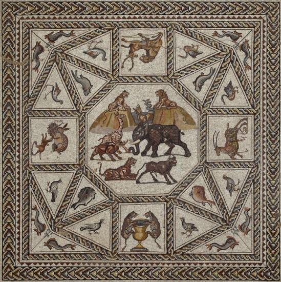 Resultado de imagen de Mosaico romano de Lod, Israel. S. IV