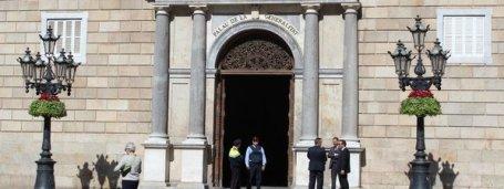 La-fachada-del-Palau-de-la-Generalitat