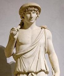 MUSEO LOUVRE. Escultura de Antínoo, amante del Emperador Adriano
