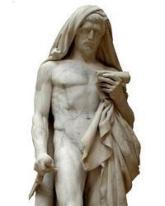 Museo del Louvre Estatua de Catón de Útica, «el joven» / MUSEO DEL LOUVRE