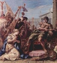 «La clemencia de Escipión». Cuadro de Sebastiano Ricci.- Royal Art Colection de Londres