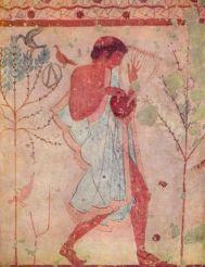 Músico etrusco - 'Tumba del Triclinio' - Tarquinia