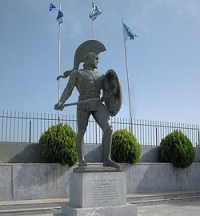Estatua del Rey Leonidas en la ciudad de Esparta -Wikimedia