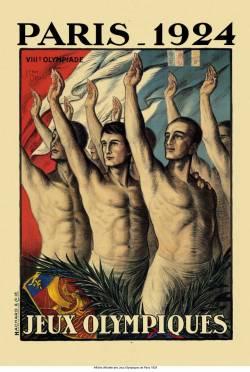 Cartel de los juegos de París en 1924, del Museo Olímpico de Lausana.